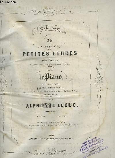 25 NOUVELLES PETITES ETUDES TRES FACILES POUR PIANO.