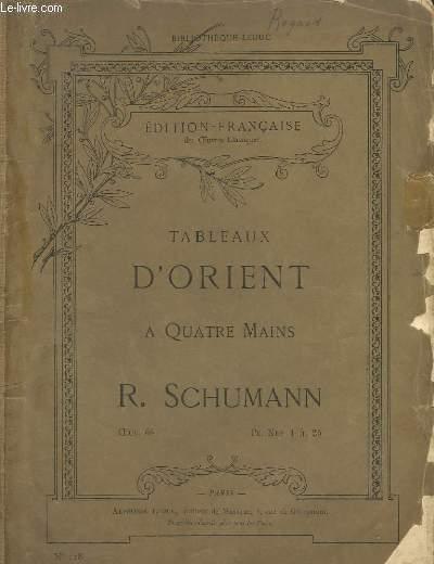 TABLEAUX D'ORIENT A 4 MAINS.