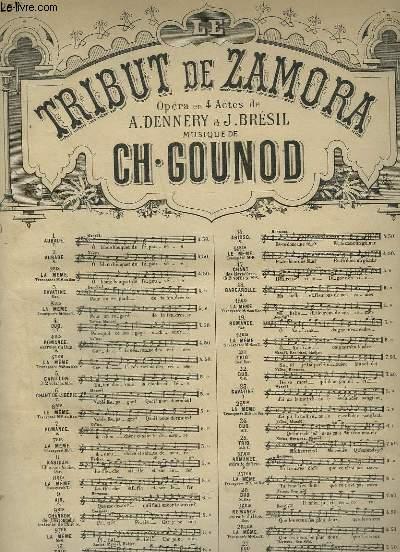 LA TRIBUT DE ZAMORA - N° 25 TER : ROMANCE EXTRAITE DU TRIO POUR PIANO ET CHANT MEZZO SOPRANO.