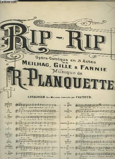 RIP RIP - N°3 : AIR POUR PIANO ET CHANT BARYTON OU MEZZO SOPRANO.