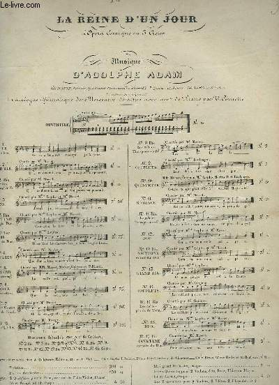 LA REINE D'UN JOUR - N°13 : PIANO ET CHANT.