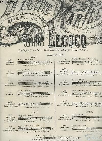 LA PETITE MARIEE - N°2 : COUPLETS LA MARIEE EST ELLE BELLE - POUR PIANO ET CHANT.