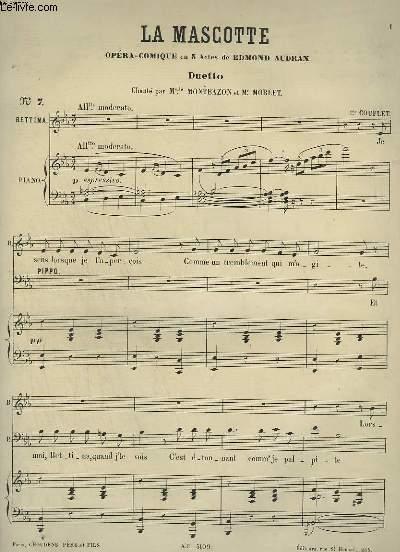 LA MASCOTTE - DUETTO N°7 POUR PIANO ET CHANT.