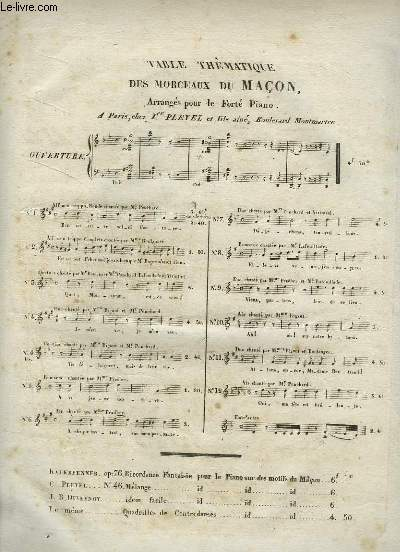 LE MACON - N°2 : PIANO ET CHANT.
