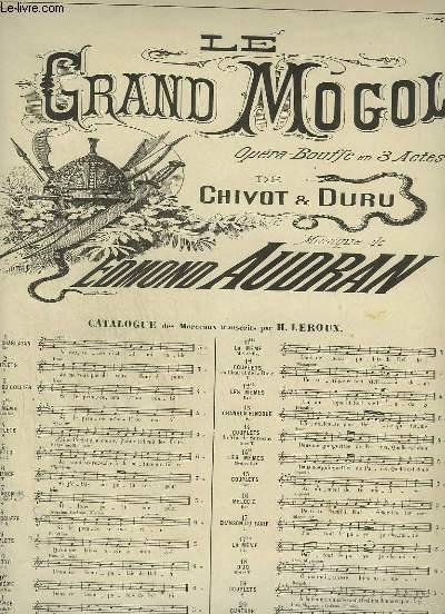 LE GRAND MOGOL - N°7 : CHANSON DU KIRI KIRIBI - POUR PIANO ET CHANT.