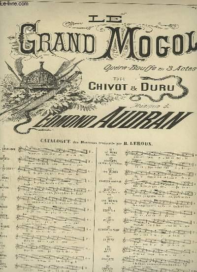 LE GRAND MOGOL - N°3 : LEGENDE DU COLLIER NOIR - POUR PIANO ET CHANT SOPRANO.
