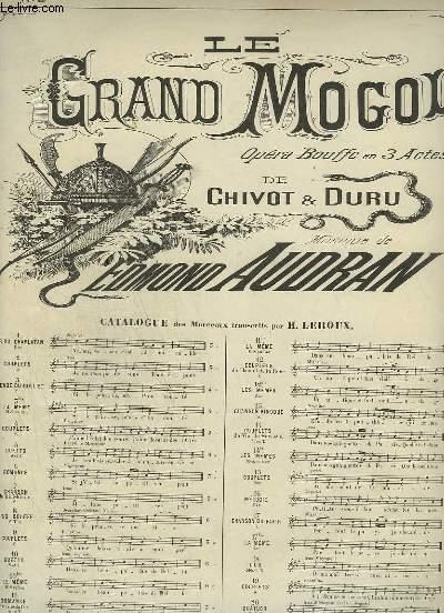 LE GRAND MOGOL - N°2 : COUPLETS - POUR PIANO ET CHANT.
