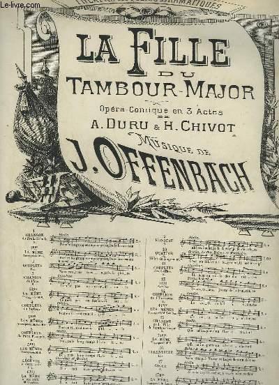 LA FILLE DU TAMBOUR MAJOR - N°9 : RONDEAU POUR PIANO ET CHANT.