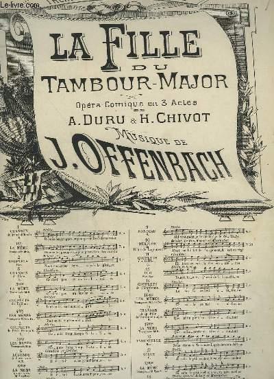 LA FILLE DU TAMBOUR MAJOR - N°7 : COUP¨LETS POUR PIANO ET CHANT.