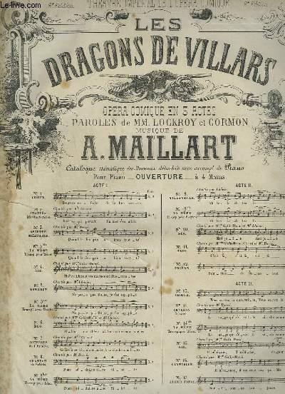 LES DRAGONS DE VILLARS - N°4 : AIR POUR PIANO ET CHANT.