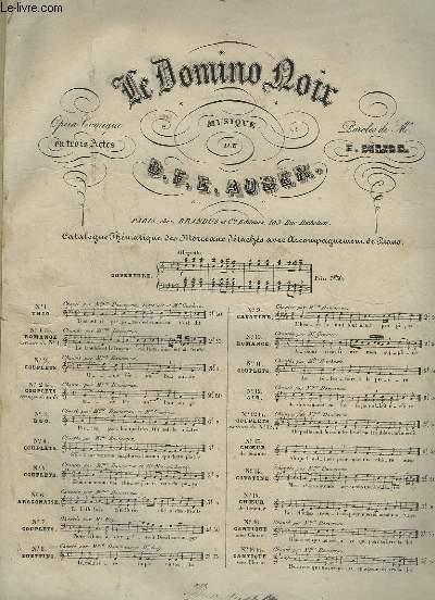 LE DOMINO NOIR - N°2 : COUPLETS POUR PIANO ET CHANT.