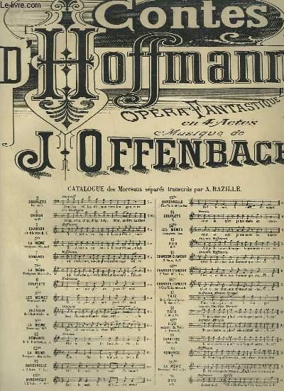 LES CONTES D'HOFFMANN - N°9 BIS : PIANO ET CHANT MEZZO SOPRANO.