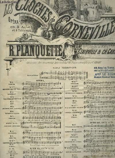LES CLOCHES DE CORNEVILLE - N°14 BIS : CHANSON DES OUI ET DES NON - PIANO ET CHANT.