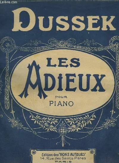 LES ADIEUX - CELEBRE RONDO POUR PIANO - N°34 DE LA COLLECTION DES BONS AUTEURS.