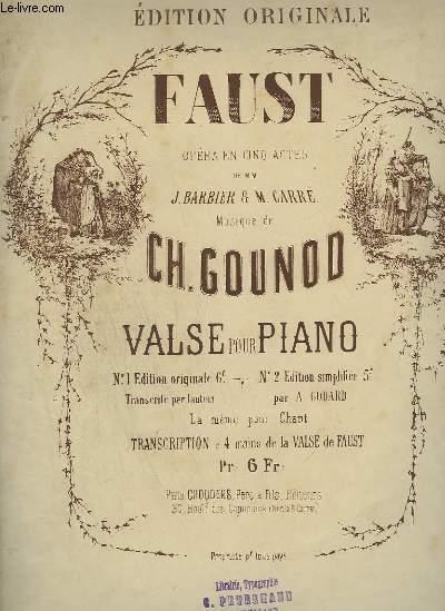 FAUST - OPERA EN 5 ACTES POUR PIANO.
