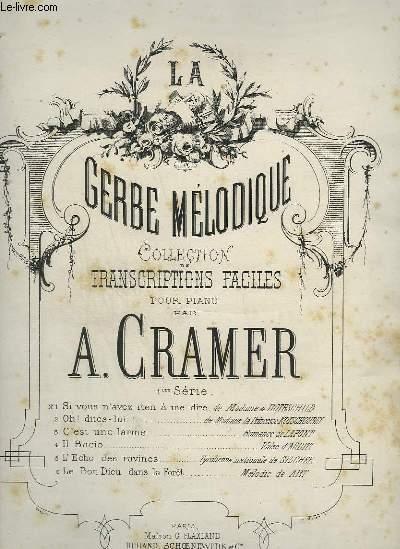 LA GERBE MELODIQUE N°4 : IL BACIO - POUR PIANO.