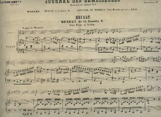 JOURNAL DES DEMOISELLES - 38° ANNEE DE MARS 1870 : PIANO ET VIOLON.
