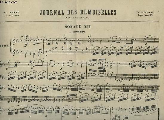 JOURNAL DES DEMOISELLES - 37° ANNEE DE SEPTEMBRE 1869 : PIANO.