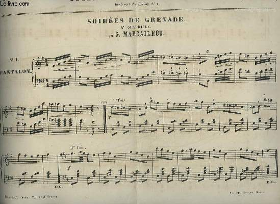 JOURNAL DES DEMOISELLES - 37° ANNEE 1869 : 2° QUADRILLE POUR PIANO.