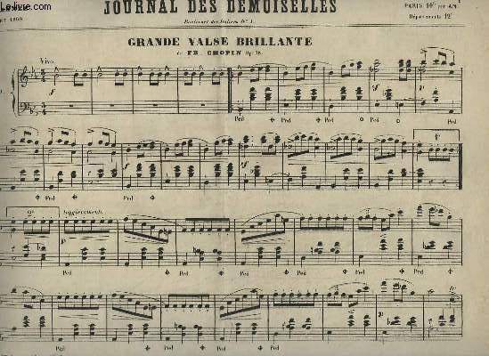 JOURNAL DES DEMOISELLES - 37° ANNEE DE JUILLET 1869 : GRANDE VALSE BRILLANTE POUR PIANO.