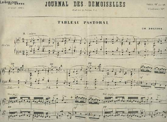 JOURNAL DES DEMOISELLES - 32° ANNEE DE JUILLET 1864 : TABLEAU PASTORAL - POUR PIANO.
