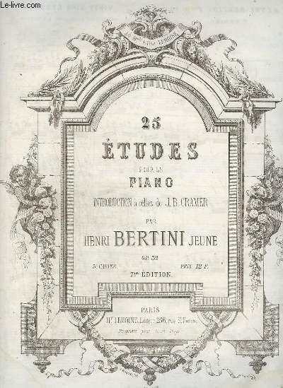 25 ETUDE POUR LE PIANO - 3° CAHIER : OP.32.