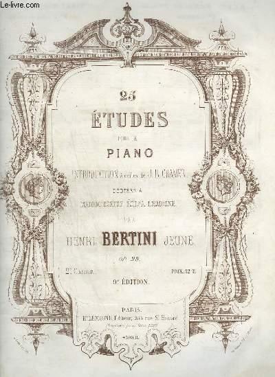 25 ETUDE POUR LE PIANO - 2° CAHIER : OP.29.