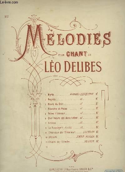 MELODIES POUR CHANT N°7 : ARIOSO POUR PIANO ET CHANT.