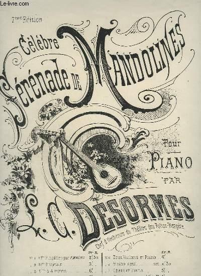 CELEBRE SERENADE DE MANDOLINES - POUR PIANO.