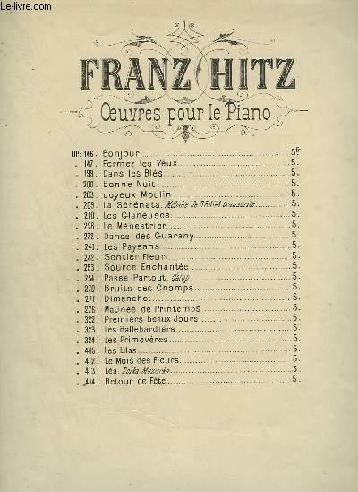 OP.200 : BONNE NUIT - CAPRICE DE GENRE POUR PIANO.