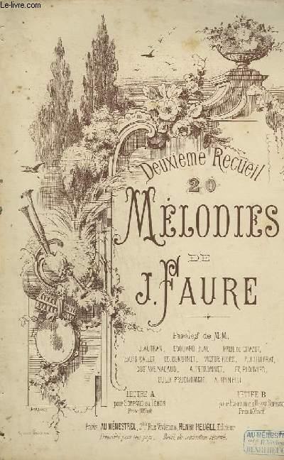 DEUXIEME RECUEIL : 20 MELODIES - PIANO ET CHANT.