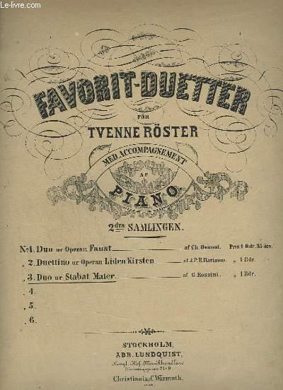 FAVORIT-DUETTER FÖR TYENNE RÖSTER MED ACCOMPAGNEMENT AF PIANO - N°3 : DUO UR STABAT MATTER.