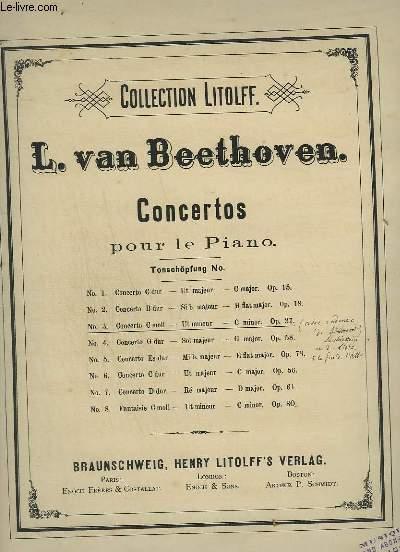 CONCERTOS POUR LE PIANO N°3 : FANTAISIE OP.37 : CONCERT 3 POUR PIANO.
