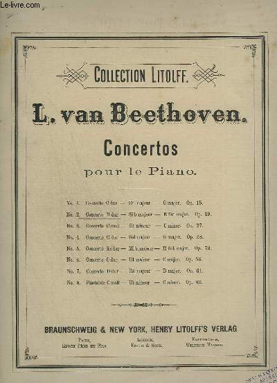 CONCERTOS POUR LE PIANO N°2 : FANTAISIE OP.19 : CONCERT 2 POUR PIANO.