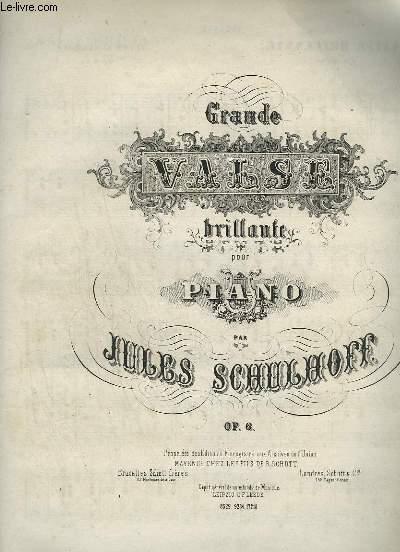 GRANDE VALSE BRILLANTE POUR PIANO A 4 MAINS.