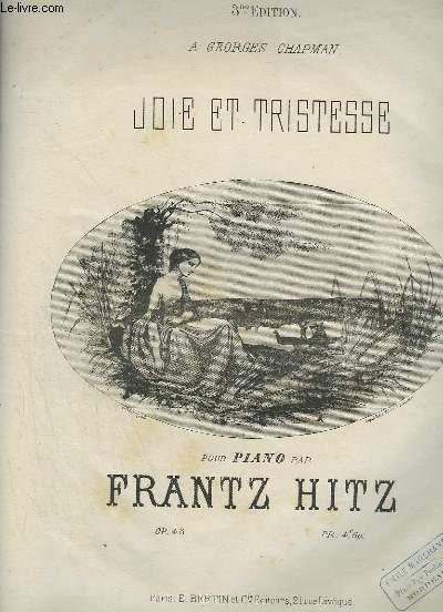JOIE ET TRISTESSE - POUR PIANO.