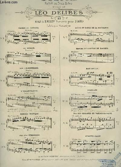 SYLVIA - N°10 : PIZZICATI ( SCHERZETTINO) POUR PIANO.