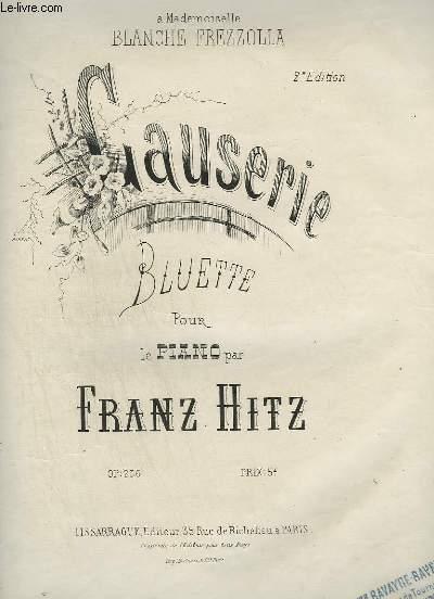 CAUSERIE - BLUETTE POUR PIANO.