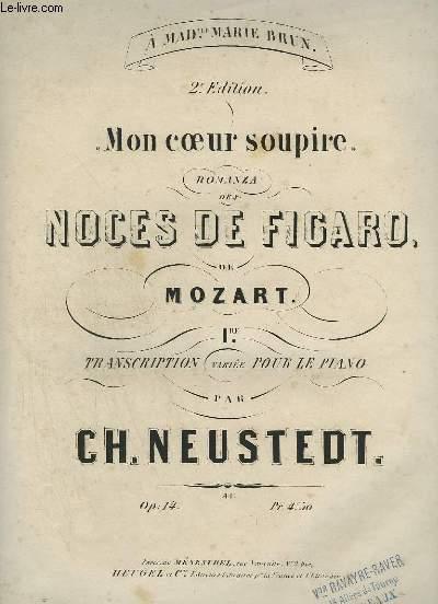 MON COEUR SOUPIRE - ROMANZA DES NOCES DE FIGARO DE MOZART - PIANO.