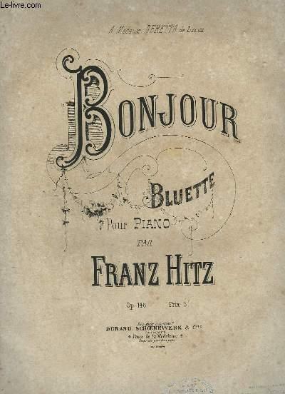 BONJOUR - BLUETTE POUR PIANO.