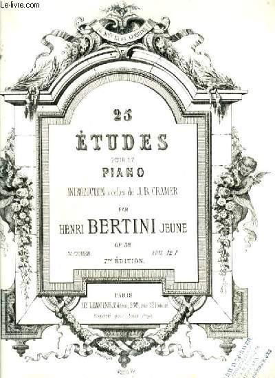 25 ETUDES POUR LE PIANO - 3° CAHIER - 7° EDITION - OP.32.
