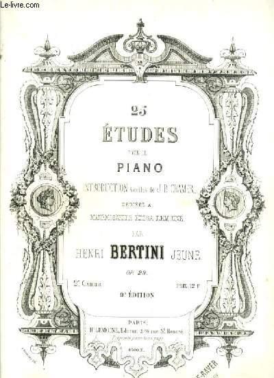 25 ETUDES POUR LE PIANO - 2° CAHIER - 9° EDITION - OP.29.