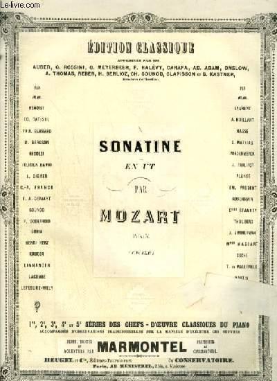 SONATINE EN UT - EDITION FACILE POUR PIANO.