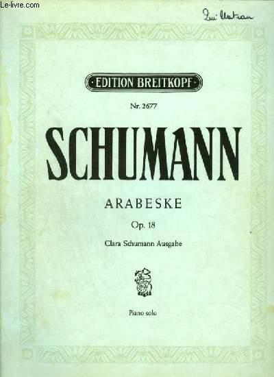 ARABESKE - OP.18 POUR PIANO SOLO.