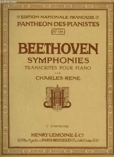 SYMPHONIES TRANSCRITES POUR PIANO : 9° SYMPHONIE.