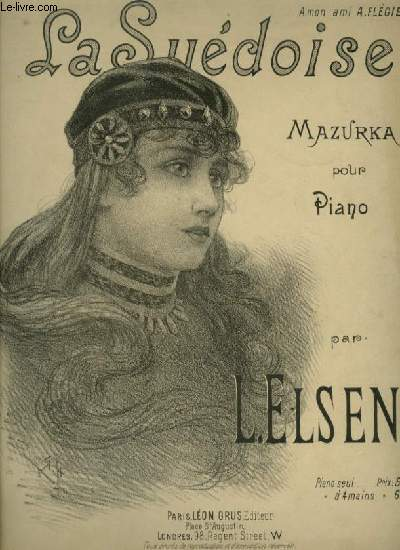 LA SUEDOISE - MAZURKA POUR PIANO.