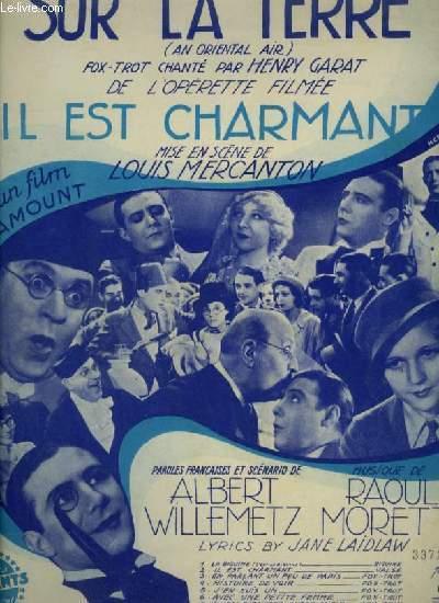 IL EST CHARMANT - N°9 : SUR LA TERRE - PIANO ET CHANT.