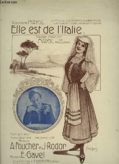 ELLE EST DE L'ITALIE - PIANO ET CHANT.