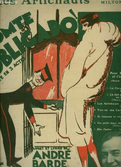 COMTE OBLIGADO - N°3 : LES ARTICHAUTS - PIANO ET CHANT.