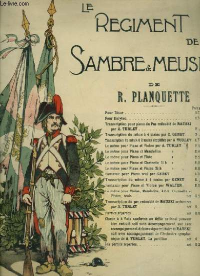 LE REGIMENT DE SAMBRE ET MEUSE - PIANO.